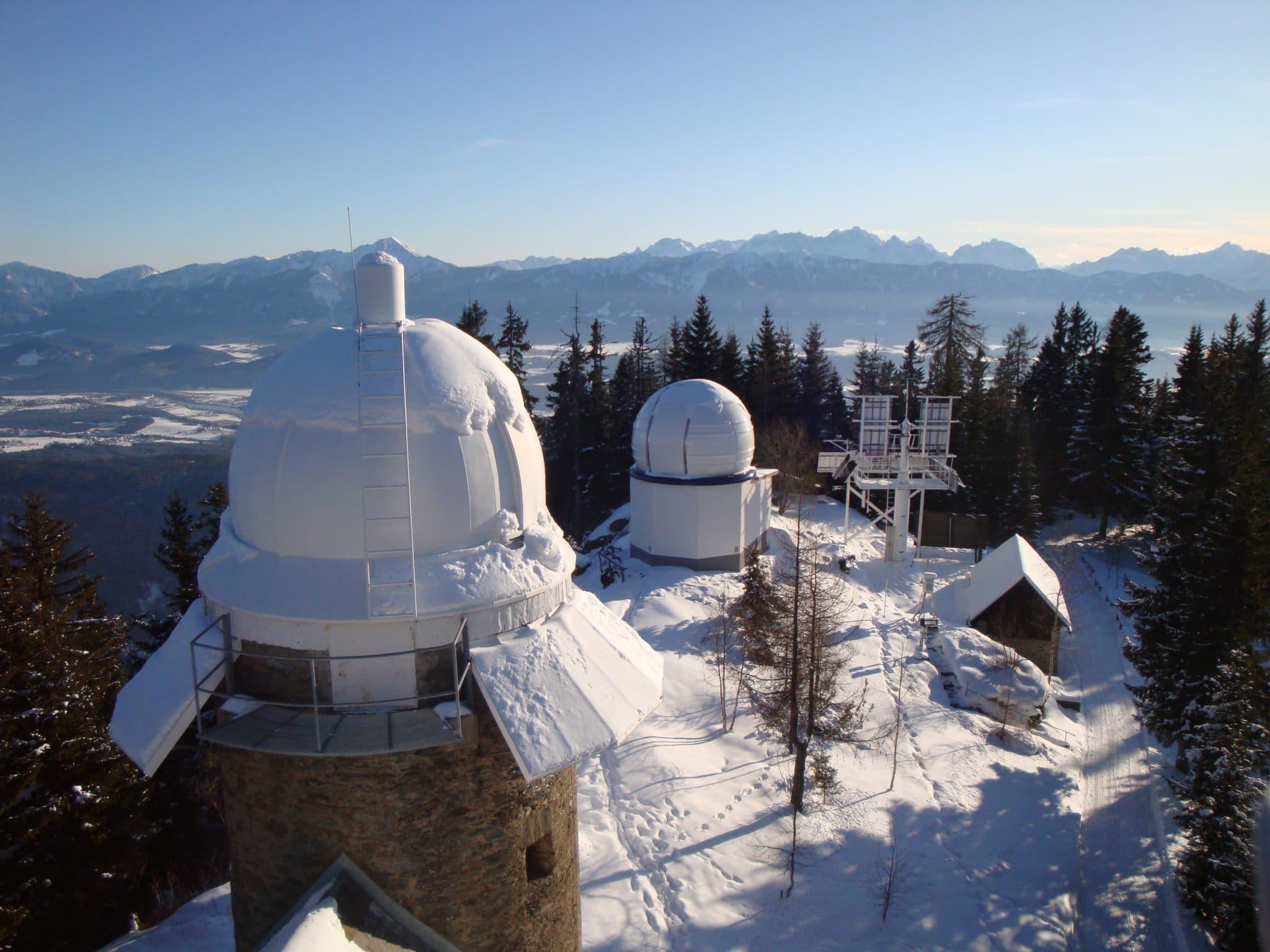 AMOS Blick vom Observatorium Kanzelhöhe